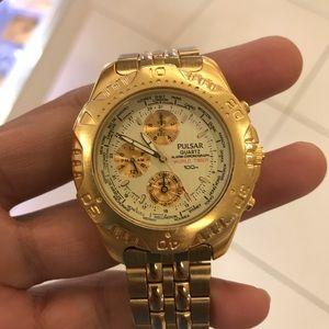 Men's gold pulsar Watch